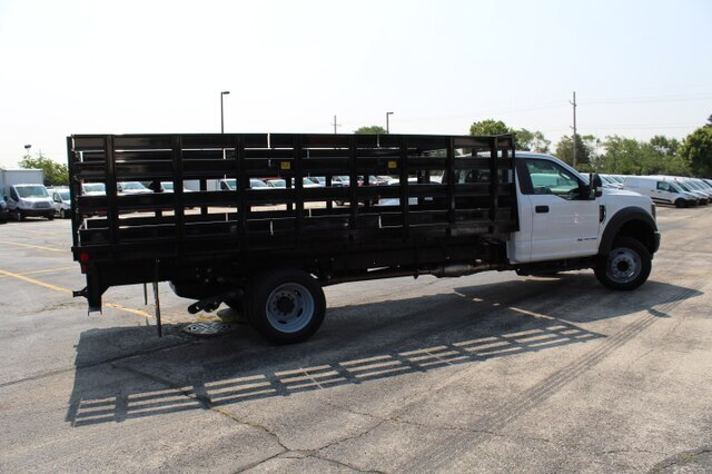 New 2019 Ford F-550 16ft Platform Stake Body RWD Chassis